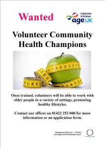 Health Champions Volunteer poster