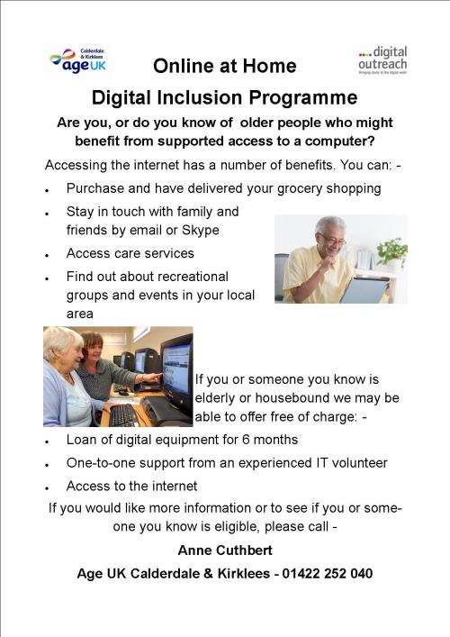 AgeUK Digital Online poster