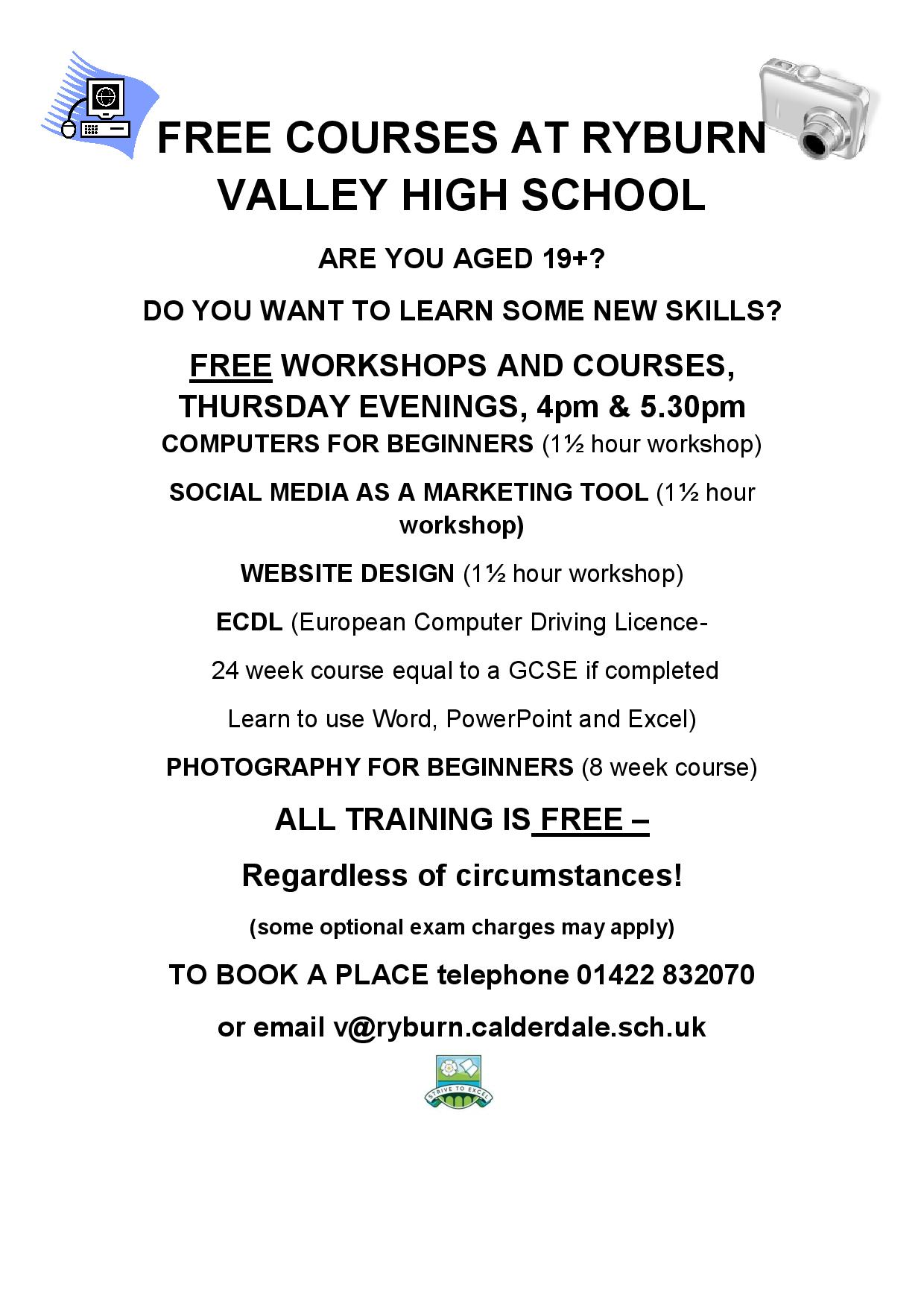 events free adult literacy course woking