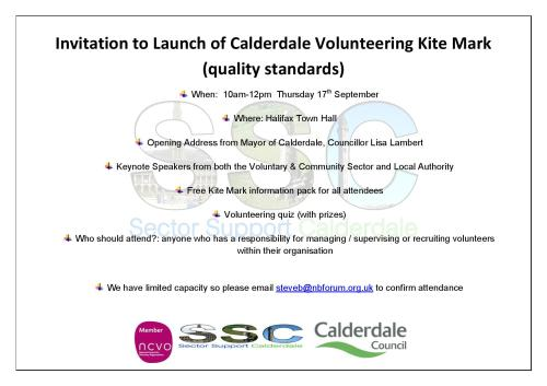 Invitation to Launch of Calderdale Volunteering Kite Mark 1-page-001