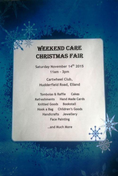 Weekend Care Christmas Fair